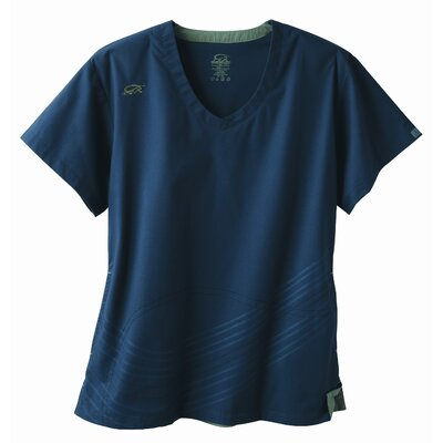 Iguana Med 5633 2-Pocket MedFlex II Dual Swirl Top in Newport Navy