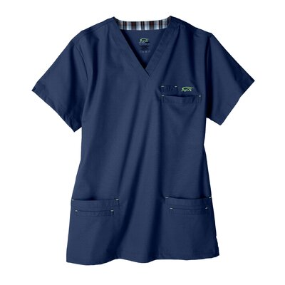 Iguana Med 7400 Men's 6-Pocket MedFlex II Top in Newport Navy