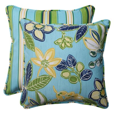 Calypso / Tropez Reversible Corded Throw Pillow (Set of 2)