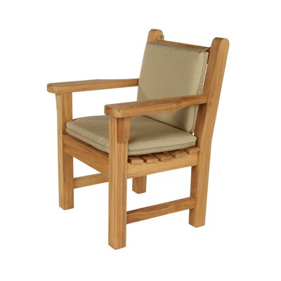 Barlow Tyrie Teak London Dining Arm Chair with Cushion