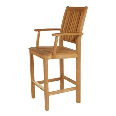 Barlow Tyrie Teak Monaco Carver Dining Arm Chair with Cushion