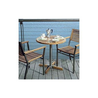 Barlow Tyrie Equino Circular Steel and Teak Bistro Table