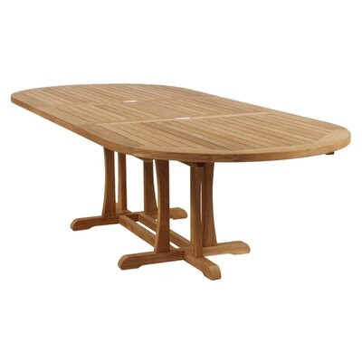 Barlow Tyrie Teak Stirling Double Butterfly Extending Dining Table