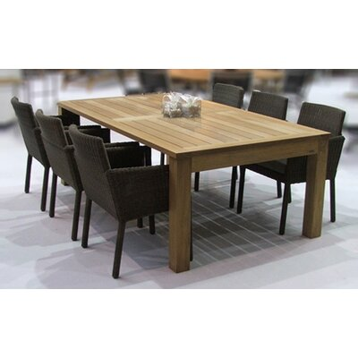Barlow Tyrie Apex Teak 7 Piece Dining Set