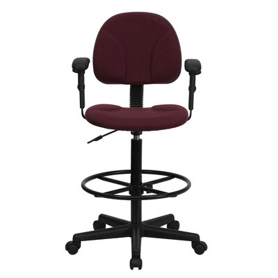 Flash Furniture Height Adjustable Drafting Stool with Two Cylinder