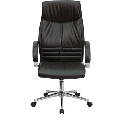 Flash Furniture High-Back Leather Executive Chair with Slim Designed