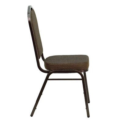 Flash Furniture Hercules Series Crown Back Stacking Banquet Chair with Copper Silver Vein Frame