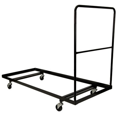 Flash Furniture Black Steel Folding Table Dolly for 30x72 Rectangular Folding Tables