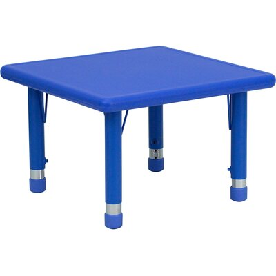 Flash Furniture Square Height Adjustable Plastic Activity Table