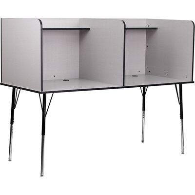 Flash Furniture Double Wide Study Carrel Desk