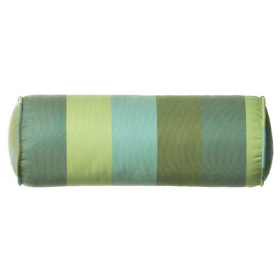 Outdoor/Indoor Vibrant Juno Stripe Teal Bolster Pillow