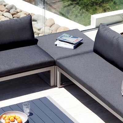 Harbour Outdoor Piano Ottoman with Cushion