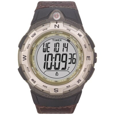 Timex Expedition Digital Compass Leather Watch