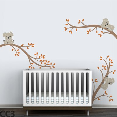 LittleLion Studio Koala Tree Branches Wall Decal