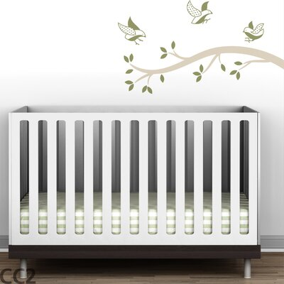 LittleLion Studio Polka Dot Birds Branch Wall Decal