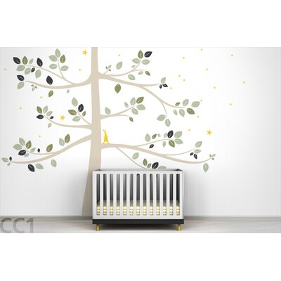 LittleLion Studio Follow The Little Rabbit Tree Extra Large Wall Decal