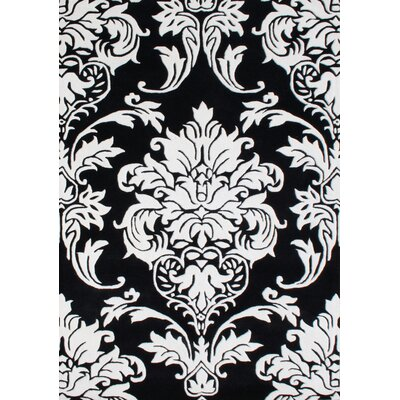 Alliyah Rugs New Casanova Off-White/Black Geometric Rug