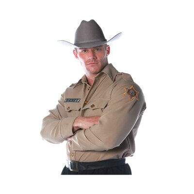 Underwraps Sheriff Shirt Costume
