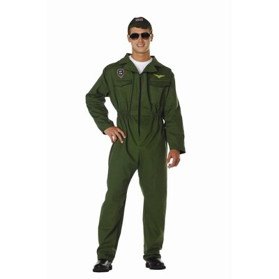 RG Costumes Top Gun Olive Adult Costume with Jumpsuit