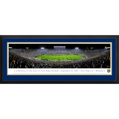 Blakeway Worldwide Panoramas, Inc NCAA University of Notre Dame - 125 Night Deluxe Frame Panorama