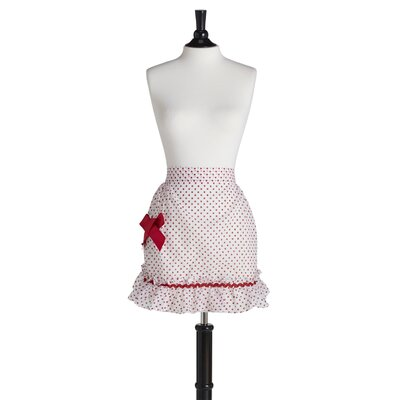 Red Polka Organdy Grace Apron