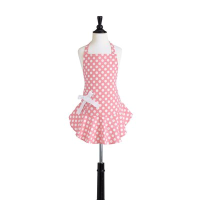 Geranium Pink and White Polka Dot Children's Bib Josephine Apron