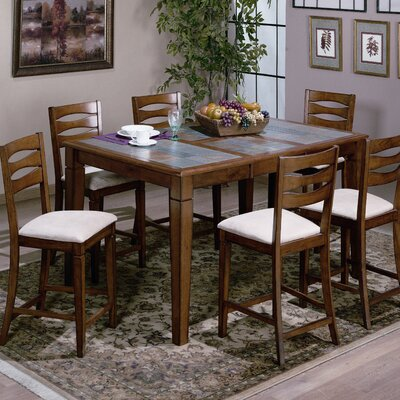 Emerald Home Furnishings Glacier Creek 7 Piece Counter Height Dining Set