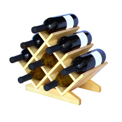 Antique Revival Bordeaux 8 Bottle Tabletop Wine Rack