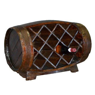Antique Revival 11 Bottle Barrel Wine Rack