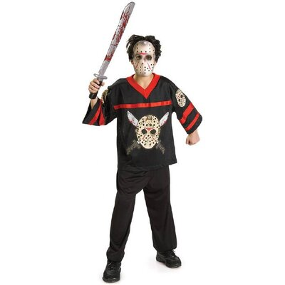 Rubies Jason Voorhees Hockey Jersey Kids Costume