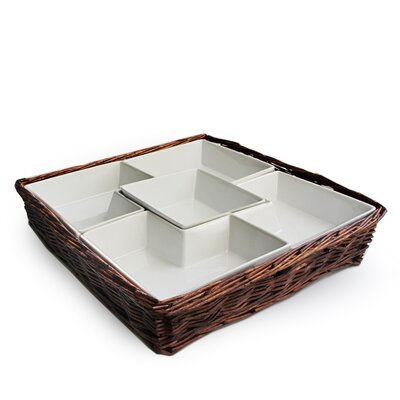 American Atelier Willow Square Chip and Dip Serving Tray