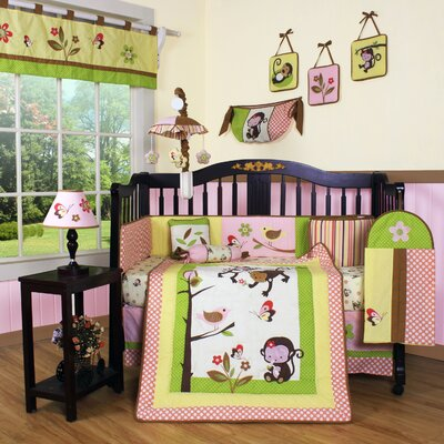 Boutique Monkey 12 Piece Crib Bedding Set