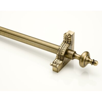 "Zoroufy Grand Dynasty 72"" Smooth Tubular Stair Rod Set with Decorative Brackets Grand Urn Finials"