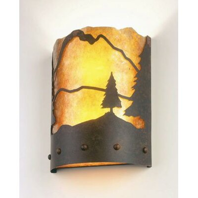 Steel Partners Timber Ridge 1 Light Wall Sconce