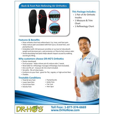 Dr-Ho's Air Insoles Orthotics