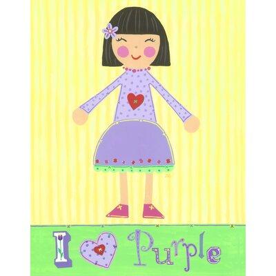 The Little Acorn Purple Girl - Violet Wall Art