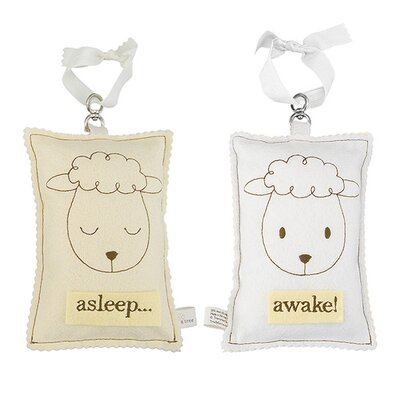 Tree by Kerri Lee Sheep Asleep / Awake Sign in Distressed Yellow
