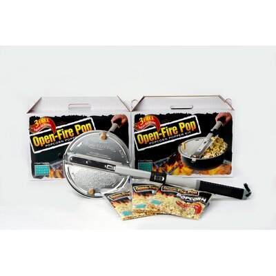 Wabash Valley Farms Open Fire 4 Quart Popcorn Popper Kit