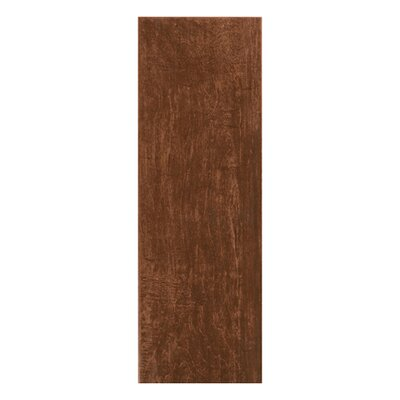 "Interceramic Colonial Wood 20"" x 6"" Ceramic Floor Tile in Mahogany"