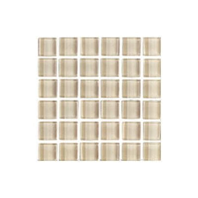 "Interceramic Shimmer 1"" x 1"" Matte Mosaic in Beach"