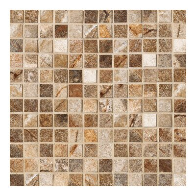 "Marazzi Vesale Stone 13"" x 13"" Decorative Square Mosaic in Rust"