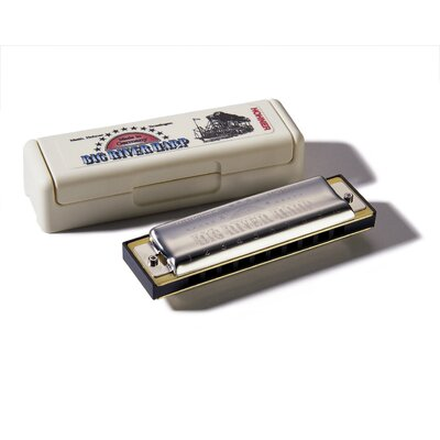 Hohner Big River Harp MS Harmonica in Chrome - Key of F#