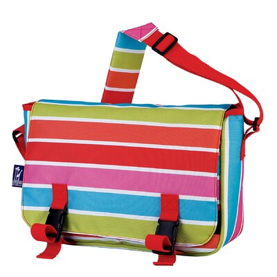 Wildkin Ashley Bright Stripes Jumpstart Messenger Bag