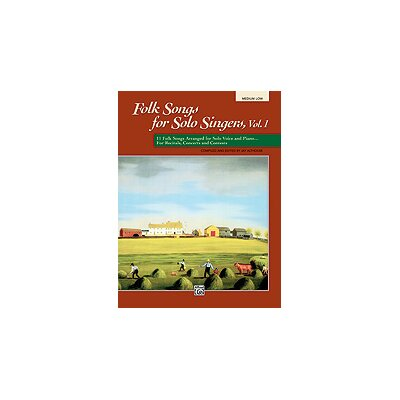Alfred Publishing Company Folk Songs for Solo Singers, Vol. 1 Book (Medium Low)