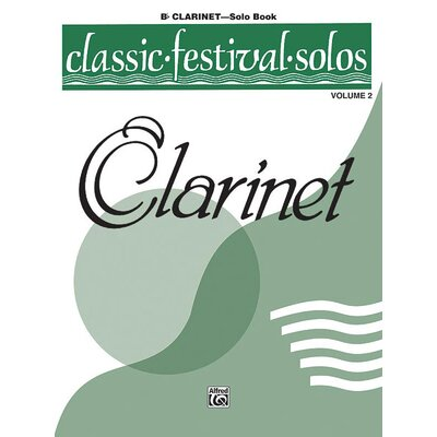 Alfred Publishing Company Classic Festival Solos (B-Flat Clarinet), Volume 2 Solo Book