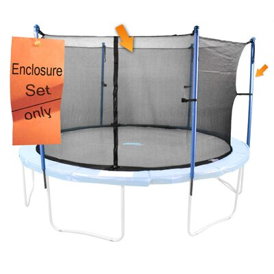 Upper Bounce 41 Piece Round Trampoline Enclosure Set for 4/8 W Legs