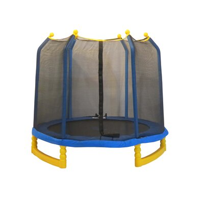 Upper Bounce 7' Indoor/Outdoor Trampoline with Enclosure