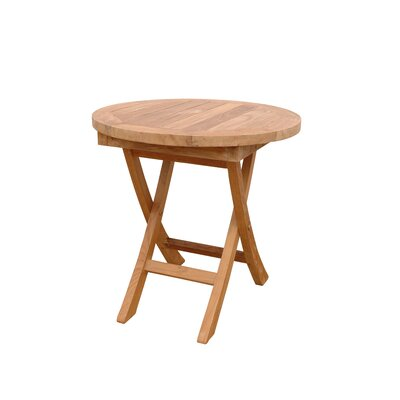Anderson Collections Bahama Mini Round Folding Side Table