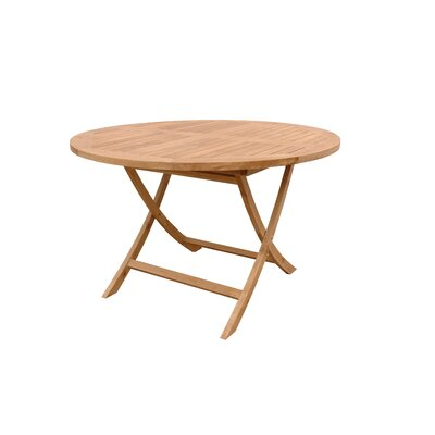 Anderson Teak Bahama Round Folding Dining Table