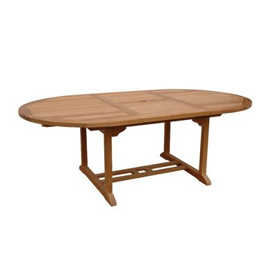 "Anderson Collections Bahama 87"" Oval Extension Dining Table"